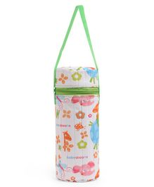 Morisons Baby Dreams Insulated Bottle Cover Green White - Fits 250 ml Bottle