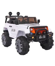 GetBest Tweeder Battery Operated Ride On Jeep - White