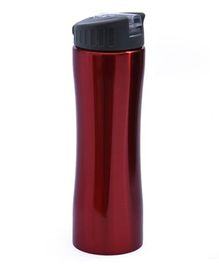 Pix Stainless Steel Water Bottle With Strap Red - 550 ml