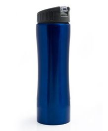 Pix Stainless Steel Water Bottle With Strap Blue - 550 ml