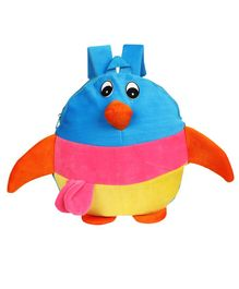 O Teddy Penguin Shape Soft Toy Bag Multicolour - 14 Inches
