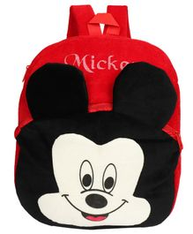 O Teddy Mickey Shape Soft Toy Bag Black - 14 Inches
