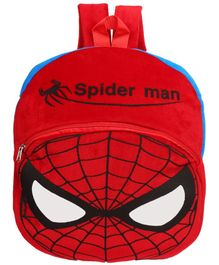 O Teddy Spider Man Shape Soft Toy Bag Red - 14 Inches