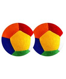 O Teddy Big Soft Toy Ball Pack of 2 Multicolour - 11 cm