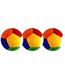 O Teddy Big Soft Toy Ball Pack of 3 Multicolour - 11 cm