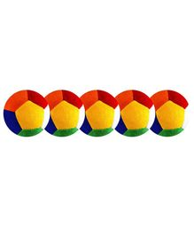 O Teddy Big Soft Toy Ball Pack of 5 Multicolour - 11 cm