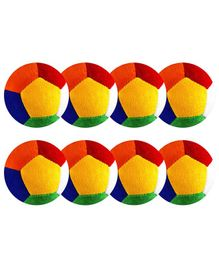O Teddy Big Soft Toy Ball Pack of 8 Multicolour - 11 cm