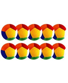 O Teddy Big Soft Toy Ball Pack of 10 Multicolour - 11 cm