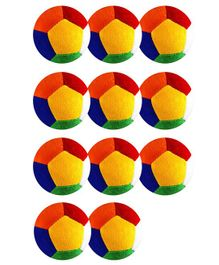O Teddy Big Soft Toy Ball Pack of 11 Multicolour - 11 cm