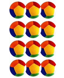 O Teddy Big Soft Toy Ball Pack of 12 Multicolour - 11 cm