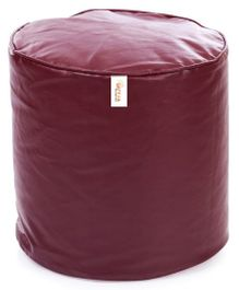 Sattva Footstool Round Bean Bag Cover Without Beans - Maroon