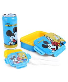 Disney Mickey Mouse And Friends Combo Of Insulated Lunch Box and Water Bottle - Blue