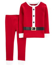 Carter's 2-Piece Santa Snug Fit Cotton PJs - Red