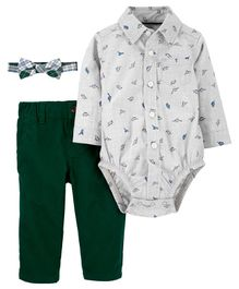 Carter's 3-Piece Dinosaur Dress Me Up Set - Multicolor