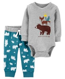 Carter's 2-Piece Woodland Creatures Bodysuit Pant Set - Multicolor