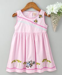 ABQ Sleeveless Frock Bee & Cow Patch - Light Pink
