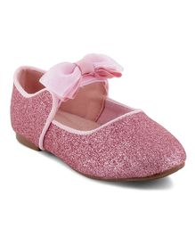 Kittens Shoes Bow Applique Mary Jane - Pink