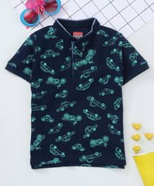 Babyhug Half Sleeves Polo T-Shirt - Navy Blue