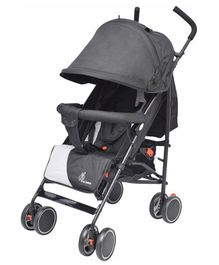 R for Rabbit Twinkle Twinkle Compact Folding Baby Stroller - Black Grey