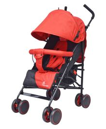 R for Rabbit Twinkle Twinkle Compact Folding Baby Stroller - Red Black