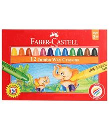 Faber Castell 12 Jumbo Wax Crayons