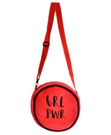 Ultra Soft Toy Sling Bag Text Print Red - 8 Inches