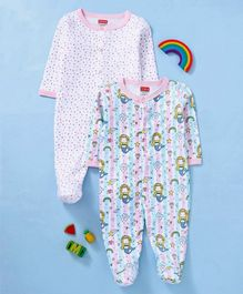 dc34c316dc3 Babyhug Cotton Full Sleeves Footed Sleepsuit Pack of 2 - Pink