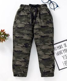 Jash Kids Full Length Camouflage Pant Rebel Print - Grey Olive Green