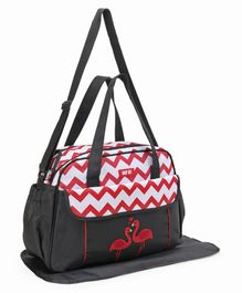 Diaper Bag With Changing Mat Swan Patch - Black