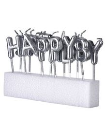 Shopperskart Happy Birthday Candles Silver - Pack of 13