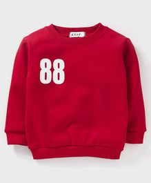 Kookie Kids Full Sleeves Sweatshirt 88 Print - Red