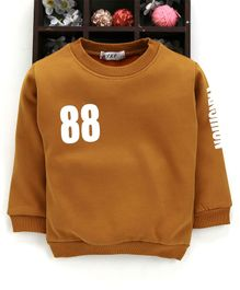 Kookie Kids Full Sleeves Sweatshirt 88 Print - Brown