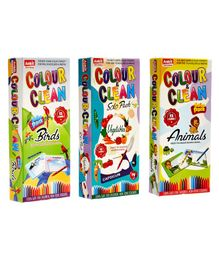 NHR Multi Themed DIY Colour n Clean Kit Pack of 3 - Multicolour