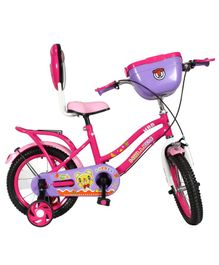 Hollicy HBB Premium Kids Bicycle With Integrated Back Carrier Pink & Purple - 14 Inches
