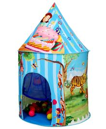 Playhood Jungle Castle With 15 Coloured Balls - Blue