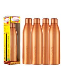 Dr. Copper Water Bottle Pack of 4 Metallic Gold - 1000 ml each