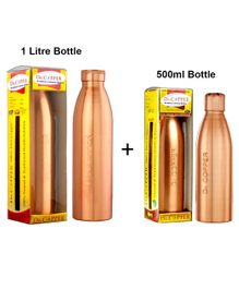 Dr. Copper Water Bottle Pack of 2 Metallic Gold - 1500 ml