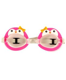 Passion Petals Anti-Fog Swimming Goggles Penguin Design - Pink