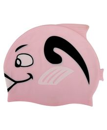 Passion Petals Silicone Swimming Cap Shark Pattern - Pink