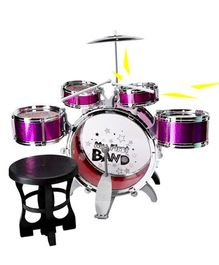 GetBest Jazz Drum Set With Stool - Purple