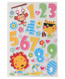 Number Theme Wall Sticker - Multicolour