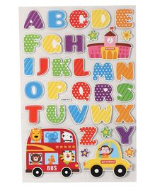 Alphabet Theme Wall Sticker - Multicolour
