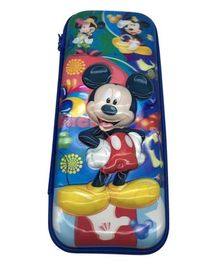 Funcart Mickey Mouse 5D Print High Quality Pencil Box - Blue