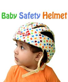 Liltoes Baby Safety Embroidered Helmet - Light Yellow