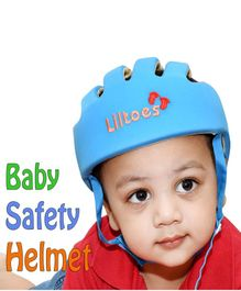 Liltoes Baby Safety Embroidered Helmet - Blue