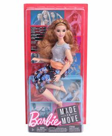 Barbie Made In Move Dolls Mullticolor - Height 20.5 cm
