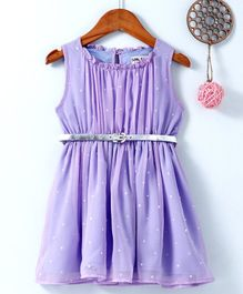 Soul Fairy Star Printed Sleeveless Dress - Purple