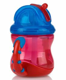 Nuby Flip N Sip Cup With Twin Handle Red - 240 ml