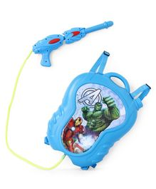 Marvel Avengers Water Gun With Backpack Storage Tank - Light Blue