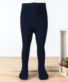 Cute Walk by Babyhug Solid Colour Footed Tights - Navy